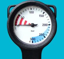 Drukmeter 450 bar met slang