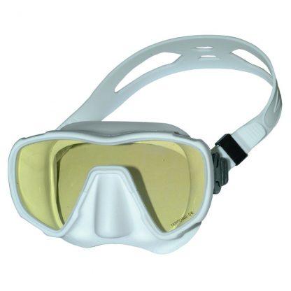 Duikbril frameloos Saekodive UV één glas wit