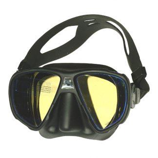 Duikbril frameloos Saekodive UV twee glazen zwart