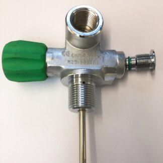 Monokraan met plug M25x2 nitrox